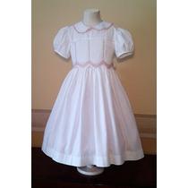 Vestido Importado Nena Bautismo Comunión Casamiento T 7 Usa