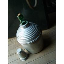 Botella Cantimplora Exterior En Aluminio Telgopor Aislante