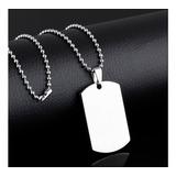 Collar Hombre - Cadena Hombre - Collar Urbano - Dije Acero Quirúrgico - Collar Militar