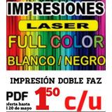 Impresión Bajadas B&n-color Pdf/word (zona Avellaneda Etc)