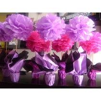 Topiarios De Flores Papel De Seda! Para Tu Evento Listos!!!