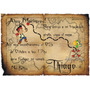 Pack 30 Tarjeta Invitación Pergamino Jake Y Los Piratas