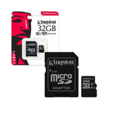 Memoria Micro Sd 32gb Kingston Clase 10 Full Hd 80mb/s