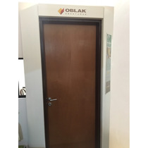Puerta Placa Oblak M/chapa Para Durlock 70 Cm Cedro