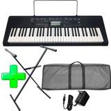 Teclado Organo Piano Casio Ctk2300 5 Octavas + Fuente + Soport + Funda