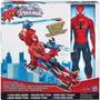 Spiderman Hombre Araña Con Helicòptero 30 Cm Hasbro Liquido!