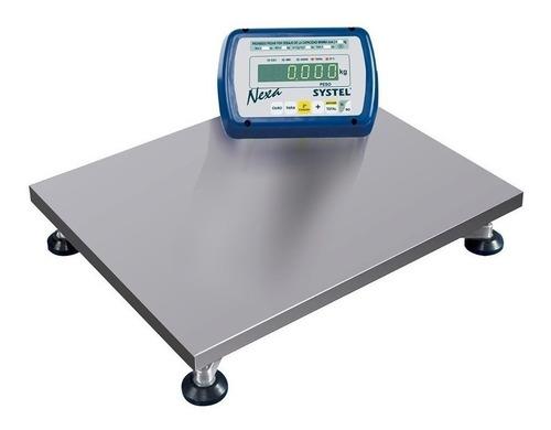 Balanza Industrial Digital Systel Nexa 300 Kg 110v/220v Plateado