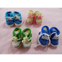Zapatillas Bebe Tejidas Crochet