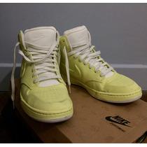 Zapatillas Nike Air Talle 37 Tela Lima Gofrada Traidas D Ny