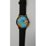 Reloj Pulsera Vintage Mapamundi Avion Gira X Mundo Viajeros