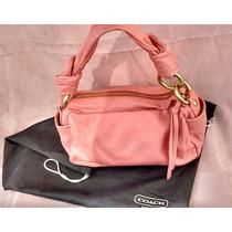 Cartera Coach Original Cuero Color Rosa Coral Negociable