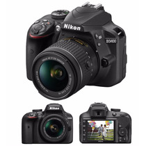 Camara Nikon D3400 Kit 18-55 24mp Reflex Full Hd Bluetooth!