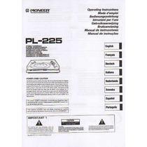 Pioneer Pl 225 Manual De Usuario Impres En Idioma Castellano