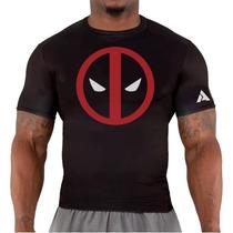 Remera Crossfit Gym Deadpool A Rage Entrenamiento Deportiva