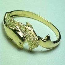 Anillo De Oro 18 K Con Garantizado Con Delfines