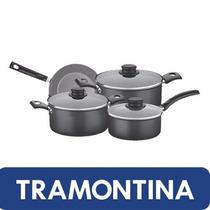 Tramontina Turim 3 Cacerolas 1 Sarten Teflon Antiadherente