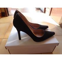 Zapatos Ferraro Gamuza Negro Talle 37 Impecables