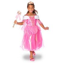 Vestido Disfraz Aurora Original Disney Store Talle 5/6 Años