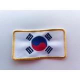 Bandera Argentina O Coreana Bordadas Para Artes Marciales
