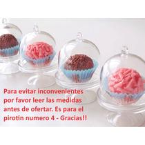 20 Souvenir Cúpula Cápsula Mini Porta Cupcake Campana 8x5,5