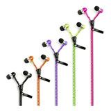 Auricular In Ear Estilo Cierre Zipper Manos Libres Microfono