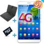 Tablet 7 4g Lte Android 5 Smartphone Quad+gps+teclado+funda
