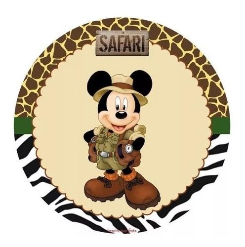Kit Imprimible Mickey Mouse Safari Fiesta 3x1