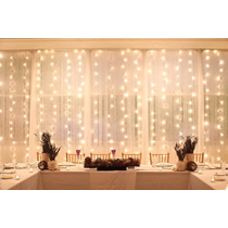 Cortina De Luz Led Calidas 3x3mt Deco Navideña Bodas Eventos