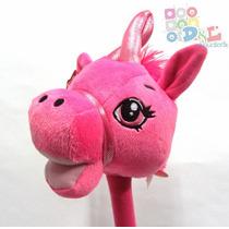 Caballito Pony De Peluche Sonido Y Palo Para Montar Original