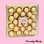 24 Bombones Ferrero Rocher En Caja Cuadrada Bombonera Regalo