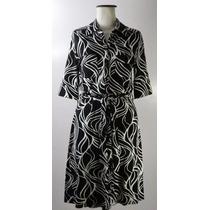 Divino Vestido Chemise H&m-elastizado-blanco Y Negro-m