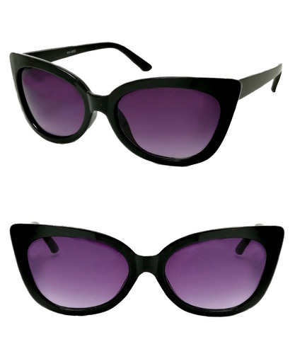 9c45ac79f6 Anteojos Sol Dama Estilo Gatubela Lentes Negro Moda Cat Eye