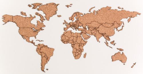 Planisferio Mapamundi Mapa De Corcho 100x50cm Viajeros