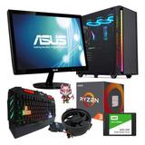 Pc Gamer Ryzen 3 Monitor 19 Coolers Rgb Ssd Ram 8gb Video V8