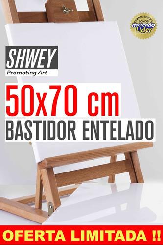 Bastidor Entelado Lienzo Shwey 50x70 Cms Apto Acrilico Oleo