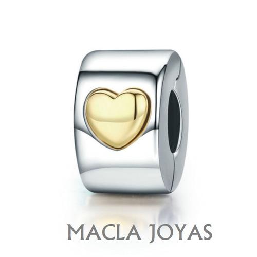 ee8848baa22a Traba/separador Charms Pulsera Pandora En Plata 925 Corazón en venta ...