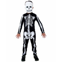 Halloween Disfraz Esqueleto Con Máscara Para Nenes