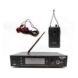 Sistema De Monitoreo Intraural Ross Fum-001 Estereo Canales Uhf Con Frecuencia Variable Entrada Xlr Y Control De Volumen
