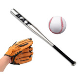 Set Bate De Beisbol Aluminio Con Pelota Y Guante