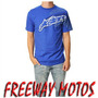 Remera Alpinestars Azul Original En Freeway Motos !