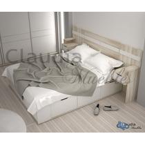 5d8c60880e95a Cama 2 Plazas Box Cajones Y Botinero Multifuncion Euro en venta en ...