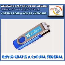 Windows 8.1 Pro Original + Office 2013 En Pendrive De 16 Gb