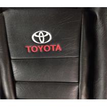 Funda Cubre Asiento Toyota Hilux D/c Cuerina Automotor Negro