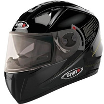 Casco Doble Visor Shiro Sh 3700 R15 Alta Vlocidad Negro Fas