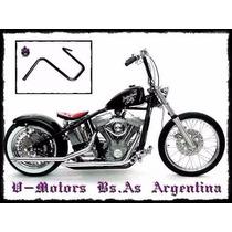 Manubrio Cuelga Mono Negro Moto Chopper Bobber