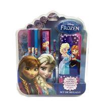 Frozen Set De Regalo Escolar Con Lic. Disney Original