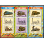 Santo Tome Y Principe 1982 Trenes Serie Completa 3 Hbs Mint!