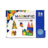 Juego Didactico Bloques Magnific Imanes Magnéticos 56 Piezas