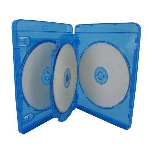 20 Empty 22mm Thick Triple Blue Replacement Boxes / Cases F