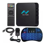Convertidor Smart Tv Box Android 7.1 Quadcore + Teclado